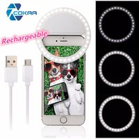 Lampadina ricaricabile Selfie Ring RK12 con fotocamera LED Flash Light Up Selfie Anello luminoso con cavo USB universale per tutti i telefoni
