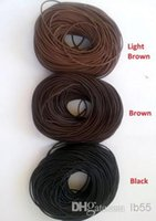 Novo Bom 1.5mm Mixed Black Brown Mixed Hot Free shiping Genuine Round 100% COW Real Leather Jewelry Cord Corda para Pulseira Colar