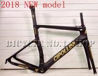Wholesale Cipollini Bikes Frame - 2018 NEW T1000 MCipollini NK1K Cipollini black gold full carbon road bike frame racing bicycle frameset size XXS XS S M L taiwan frames