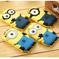 Wholesale Despicable Iphone Casing - Hot Cute Cartoon Despicable Me Silicon Cover Case For Iphone 5s 6 6s plus Samsung S6 Not 5 Small Yellow People Phone Case