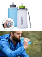 Wholesale Portable Pe Foldable Water Bottle - water bottle foldable water bottle portable outdoor sports bottle foldable cup Food grade TPU material BPA free 500ml