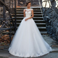 Wholesale tail floor - Customized White Wedding Dress With A Line Princess Tails Chinese Online Stores Women Robe De Mariee HTN7 Brautkleider