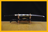 Wholesale High Carbon Steel Katana - COLLECTION SWORD for decorate 100% Handmade Full Tang Hand forged T10 1095 High Carbon Steel Japanese Samurai Katana Japan Ninja Sword #142