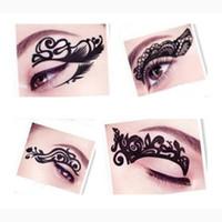Wholesale Tattoo Liner Diy - Wholesale- Fashion Designs Chosen Eye Art Tattoos Temporary Stickers Eye Liner DIY Decorations Eye Makeup Eyeliner Cosmetics
