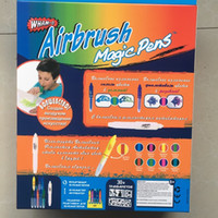 Wholesale Airbrush Toys - Airbrush Magic Watercolor Pen Multi Function Painting Graffiti Color Pens Direct Deal Blow Painting Children Toys Hot Sale 13zw J R