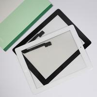 ingrosso sostituzione tablet touch touch screen-All'ingrosso-100% testato bene per ipad3 iPad 3 ipad 4 digitalizzatore touch screen per iPad 4 + tasto home + pulsante flex + adesivo + supporto per fotocamera completo