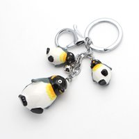 Wholesale Penguin Keychains - MF1201 Fashion 3D Penguin Keychains Toy Keyrings Lovely Cartoon Animal Car Chains Pendants Accessories
