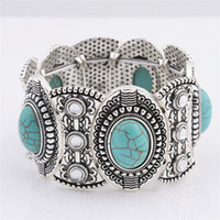 Wholesale Channel China Wholesale - wholesale free shipping Turquoise bracelets fashion jewelry green turquoise bangle retro bracelet silver plated with crystal TB0001