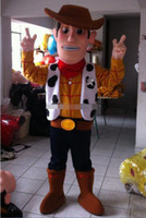Wholesale Mascot Costume Toys - custom made 2016 new classic New Cowboy Mascot Costume Woody Character Halloween Toy Story Buzz Jessie