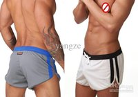 Wholesale Mesh Fabric Underwear - Authentic Men's Sexy Sports Shorts Household underwear gym shorts trunks Mesh fabric MIX 7063 5pc