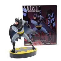 Wholesale black animated - Anime Batman figure Toys ARTFX DC Animated action figure 18cm Christmas Gift for Kids free shipping