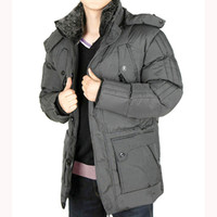 Wholesale Nice Jackets - Fall-Nice Men Winter Warm Cotton Coat Male High Quality Windproof Plus Size Jacket Thickening Hooded Imitation Fur Collar Coats HJ115