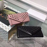 Wholesale Long Chain Korean Handbags - Milan fashion Cover envolope lady clutch cowhide logoed women handbags lady wallet high quality women clutch wallet money clip