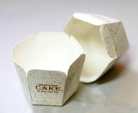 Wholesale Square Cake Paper Cup - 200pcs lot Simple Style Square Cake Muffin Chocolate Cupcake Liners Baking Tools Cake Paper Muffin Cases Cake box