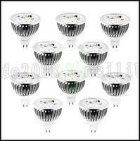 Wholesale Warm White 12 W - W GU5.3(MR16) LED Spotlight MR16 4 High Power LED 360-400 lm Warm White   Cool White   Natural White Dimmable DC 12   AC 12 V 10 pcs LLWA146
