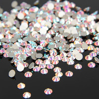 Wholesale Diy Flatback - Top Quality Very Shiny SS3-SS30 Crystal AB   Clear AB Glass Glue Fixed Non Hotfix Flatback Rhinestone Nail Art Decoration Clothing DIY