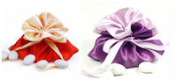 Wholesale Satin Red Gift Bags - Satin Wedding Favors Gifts Bags Candies Jewerly Packing Pouch Holders Boxes Creative Anniversary Birthday Shower Event Party Decoration