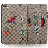 Wholesale Stylish Mobile Cover Wholesale - NEW Fashion Cellphone Case For Samsung Note 8 Embroidering Stylish Mobile Phone Protective Cover Skin For iPhone X 8 7 6 Plus OPPBAG