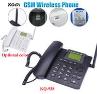 Wholesale Desktop Telephones - GSM fixed wireless phone Quadband SIM Card SMS Function Desktop Telephone Russian French Spanish Portuguese