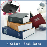 Wholesale Hidden Lock Boxes Books - Hot Sale 4 Colors Steel Dictionary Hidden Security Secret Coffer Strongbox Book Safes , Small Money Coin Store Key Lock Box