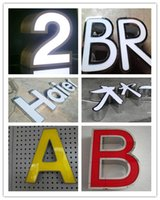 Wholesale Make Outdoor Signs - LED face lit channel letter 3D logo custom made signs outdoor waterproof signage