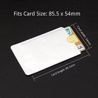 id kreditkartenschutz großhandel-100pcs Kreditkarte-Schutz-sichere Ärmel RFID, der Identifikations-Halter-Folien-Schild blockiert, populär