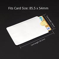 ingrosso scudo della carta di credito-Scudo protettivo della carta del supporto di identificazione RFID di Maniche della protezione della carta di credito 100pcs popolare