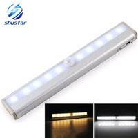 Wholesale Led Wardrobe lights leds Night Light for wardrobe Infrared Detector Wireless Sensor Lighting Light sensitive lamp