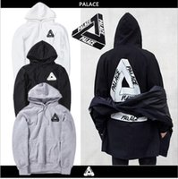 Alta qualità 2017 Mens Palace Skateboards Felpa con cappuccio da uomo in cotone triangolo Sweat Palace Palace Felpe sportive casual top