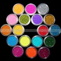 Wholesale glowing powder nails online - Colored Pack Nail Art Gel Nail Glitter Glow Glossy Acrylic Powder For Nail Art Tips Decoration
