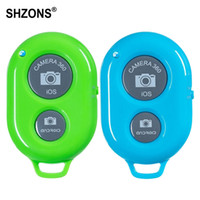 Wholesale iphone bluetooth remote shutter control resale online - Bluetooth Shutter Remote Control Button Wireless Bluetooth Self Timer Shutter Controller for iPhone Android Phone