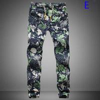 Wholesale Linen Drawstring Pants - Wholesale-Men Linen Pants New Design New Those Days Pants Men Casual Decorated Harem Mens Joggers Long Style Floral Print Pants 19