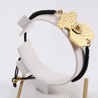 Wholesale Hot New Bracelet Charm - 2017 Stainless Steel Gold Plated Bear Charm Bracelet For Women Hot Selling Never Fade New Edition