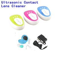 Wholesale Ultrasonic Contact Lenses Cleaner - NEW Mini 4ml Contact Lens Contact Lenses Box Automatic Cleaning Ultra sonic Cleaner Myopia Glasses USB Ultrasonic Cleaning Machine