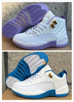 Wholesale B Bones - Air Retro XII 12 Womens Basketball Shoes Prem HC GG GS HEIRESS Bone Gold PLUM FOG 12s Kids Youth Sneakers Shoes