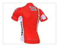 Wholesale Team Cycle Jerseys Wholesale - 100% Polyester Lotto Team Bike Cycling Jersey Cycle Cycling Clothes Roupa Ciclismo Quick-Dry Racing Bike Jerseys