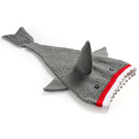 Wholesale New Crochet Cute Bag - Baby Crocheted Cute Shark Sleeping bag Newborns cartoon animal photo props handmade clothes