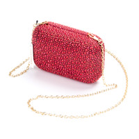 Wholesale Wholesale Suede Evening Bags - 2016 New Design Luxurious Diamond crystal Evening Handbags Fashion Special Occasions Handbag Bridal Hand Bags Red Color Factory Wholesales