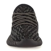 Wholesale Girl Shoe Winter - New kids shoes 350 Boost kanye west shoes Pirate Black and Turtle Dove with Boost Cushioning System Infant child toddlers boys girls size