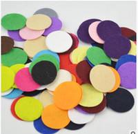 """Wholesale Die Cut Felt - top sale DIY rosette headwear accessories 1.5"""" 4CM die cut round felt circle applique hair clip felt circles 1000pcs lot 19colors hot sale"""
