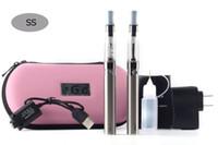 ego double ce4 fall großhandel-eGo CE4 Doppelstarterkits e-cig 2 CE4 Zerstäuber 2 Batterie 1100mAh im eGo E-Zigaretten-Reißverschlusskasten Elektronisches Zigarettenrauchen