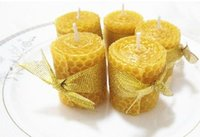 Wholesale Healthy Hands - natural bee wax mini candle healthy environmentally friendly candle hand roll candle home decoration creative gift