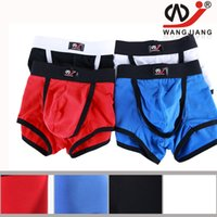 Wholesale Pj S - Mens Boxers Underwear Male Boxer Shorts Man Trunks Sexy Pouch Bag Men Undershorts Boyshorts Fashion Cotton Underclothes 2002-PJ