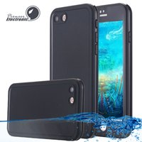 Wholesale Shock Proof Water Iphone Case - For Iphone X 8 Case S7 Waterproof Case TPU Rubber Full Boday Cover For iphone 7 plus 6 6 Plus Shock-proof Dust-proof Underwater Diving Cases