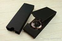 Wholesale Shockproof Watches - Wholesale aaa quality Ultra thin Original box new black Watch model Fashion gift boxes luxury Double paper rectangle Folding shockproof Soft