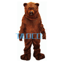 Wholesale Brown Grizzly Bear Costume - Friendly Grizzly Bear Professional Quality Lightweight Mascot Costume Adult Size