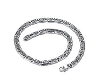 Wholesale Chain Fencing - Wholesale Stainless Steel 62cm Long Link Chain Fence Zigzagged Men Punk Cool Chain From China