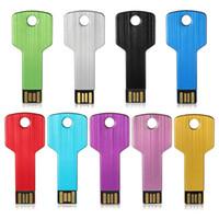 Wholesale Drive Gb Key - USB 2.0 Flash Memory Stick Hot Sale Drive U-Disk 8GB 4GB 16GB 1GB 2GB Mini Key Shape Memory USB