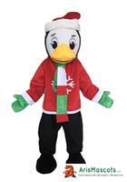 personagens trajes trajes venda por atacado-AM3108 Real fotos de Natal Terno De Pinguim Mascote Costume Comprar Mascotes Em Linha Personalizada Caráter Animal Mascote Outfits Esportes Mascote para T