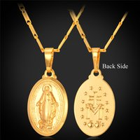 Wholesale Cross Pendants For Women - New Virgin Mary Fashion Necklaces For Women Men Jewelry 18K Real Gold Plated Mother of God Cross Necklaces Pendants P240